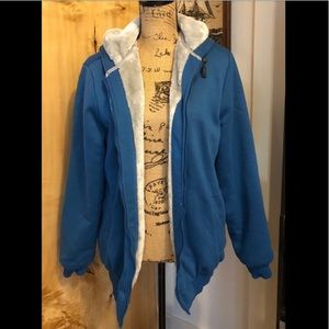 Other - Soft Fur Lined Turquoise Hoodie 3XL RUNS SMALL
